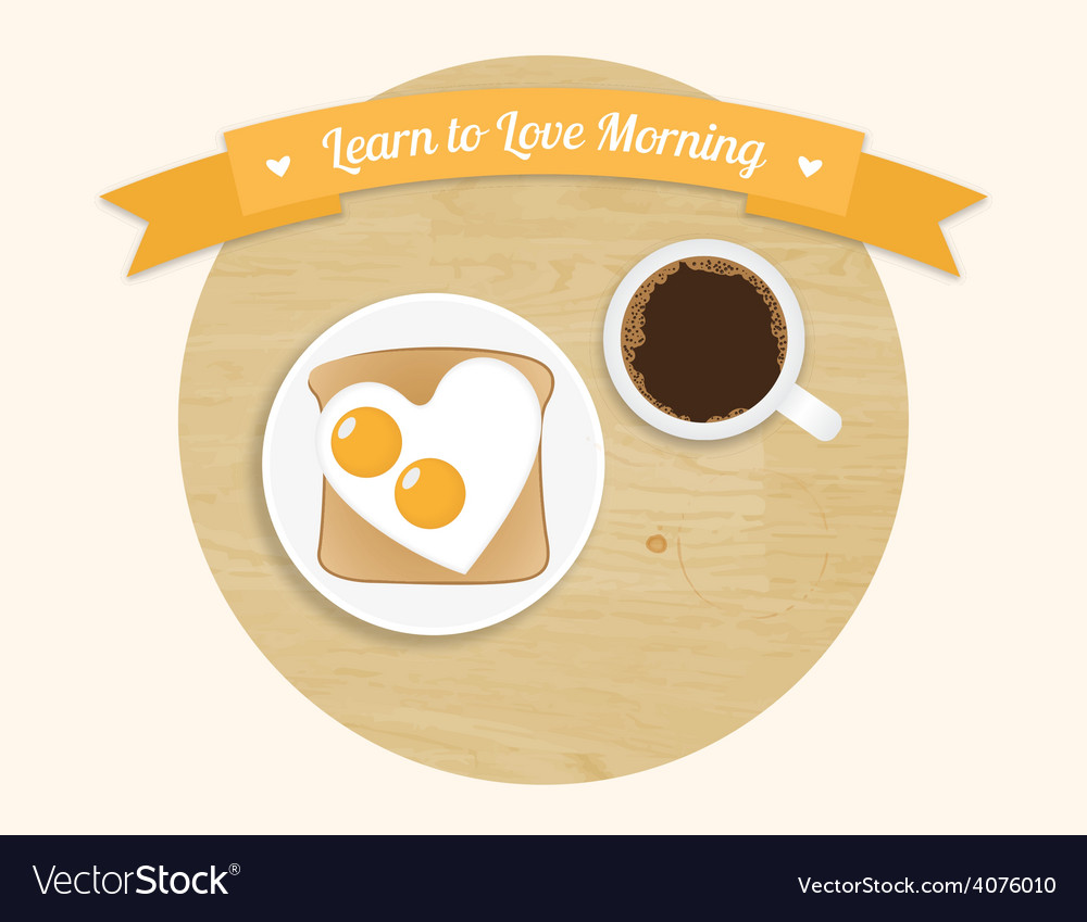Morning breakfast round icon vector | Price: 1 Credit (USD $1)