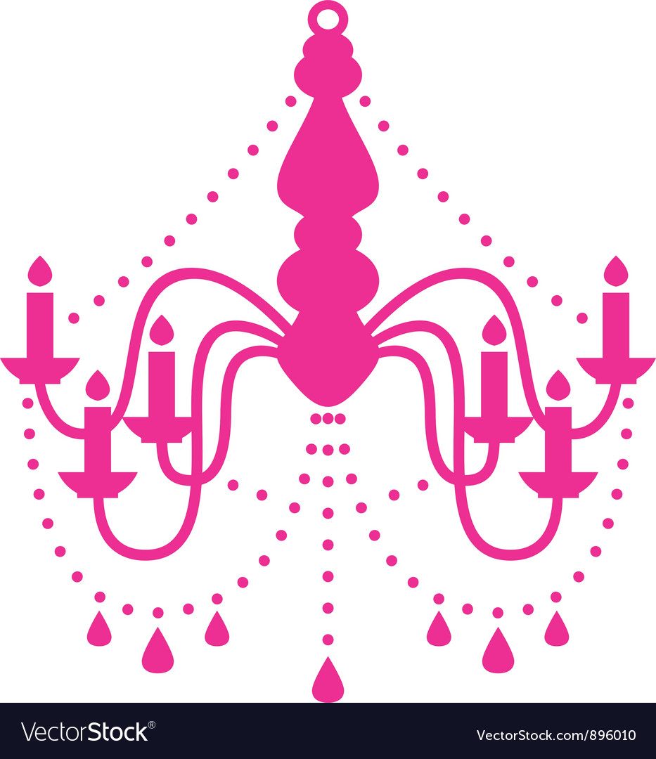 Pink chandelier isolated on white vector | Price: 1 Credit (USD $1)