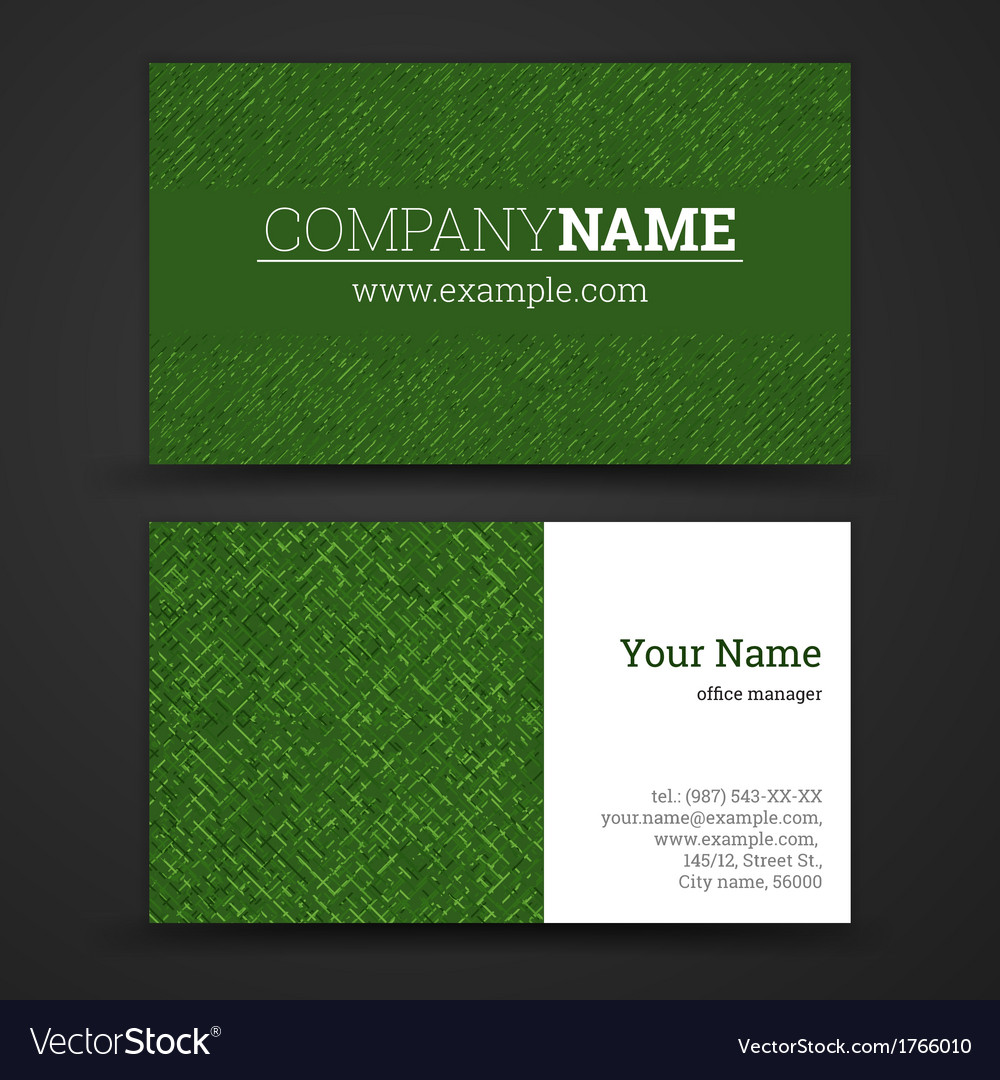 Premium business card set eps10 vector | Price: 1 Credit (USD $1)