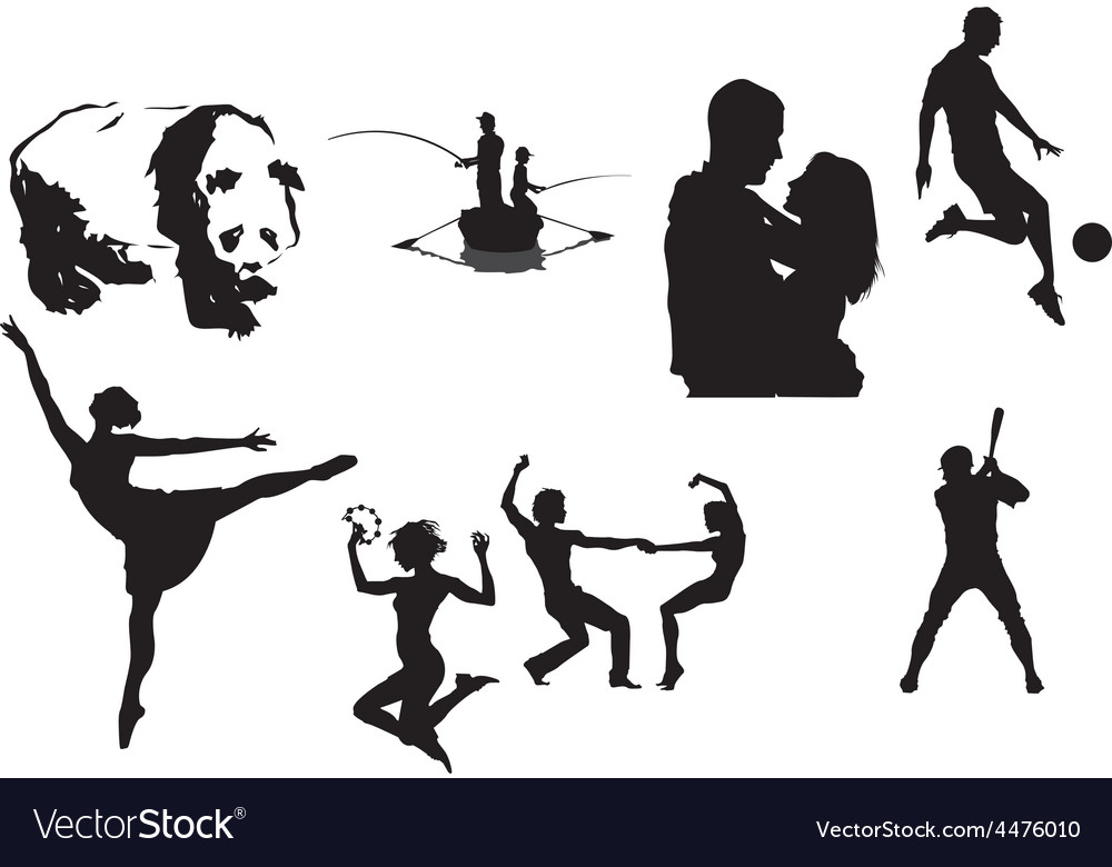 Silhouettes vector | Price: 1 Credit (USD $1)