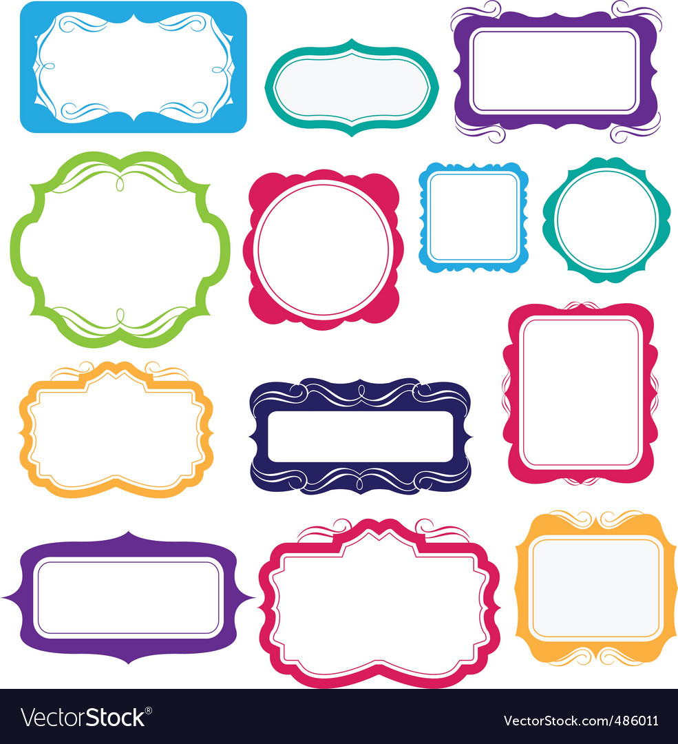 Bright frames and labels vector | Price: 1 Credit (USD $1)