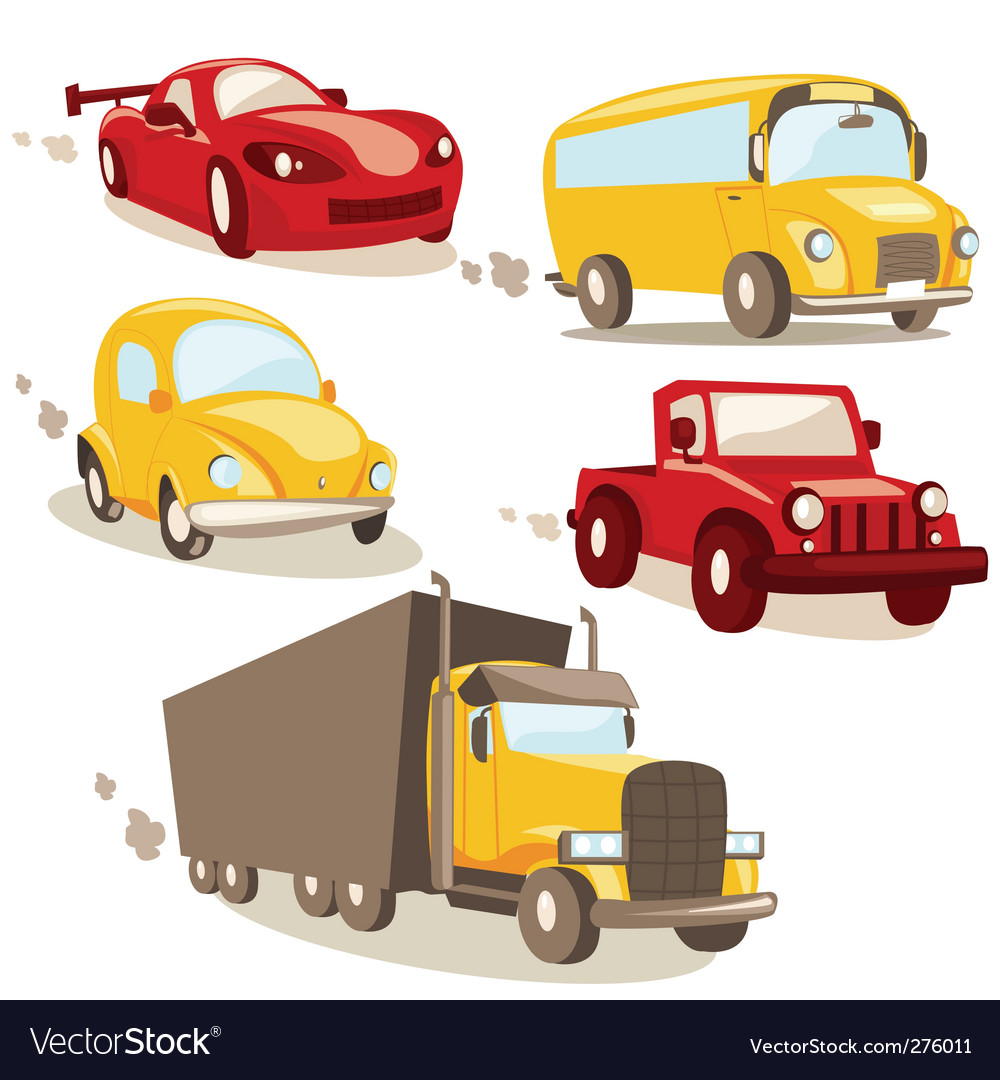 Cars and trucks vector | Price: 1 Credit (USD $1)