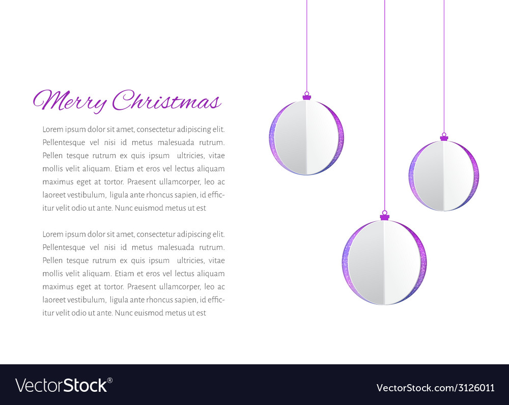 Christmas balls cutted from papaer vector | Price: 1 Credit (USD $1)