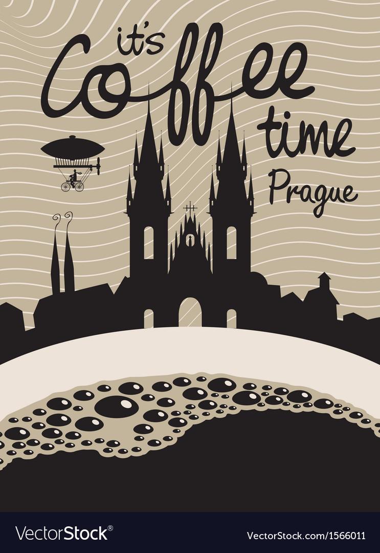 Coffee prague vector | Price: 1 Credit (USD $1)