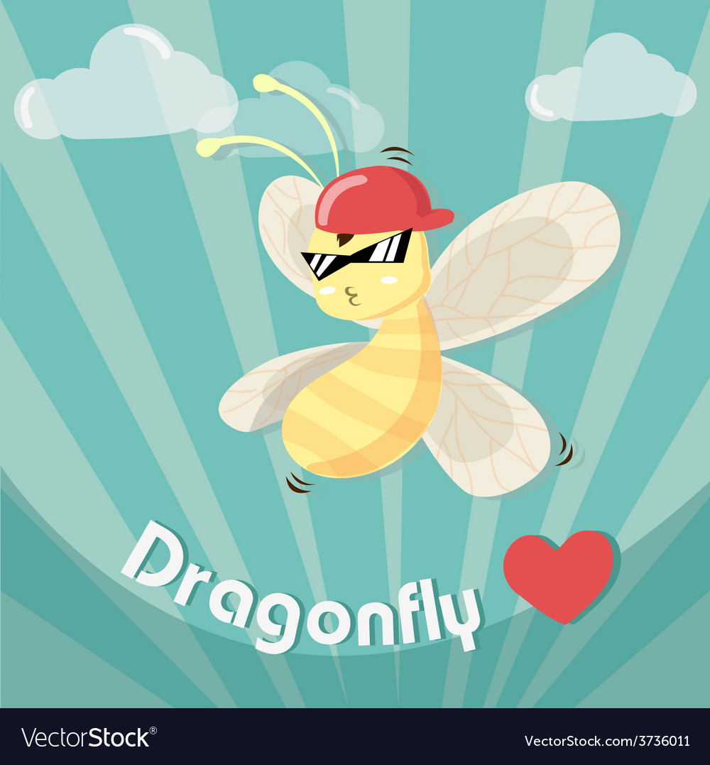 Dragonfly boy cool vector | Price: 3 Credit (USD $3)