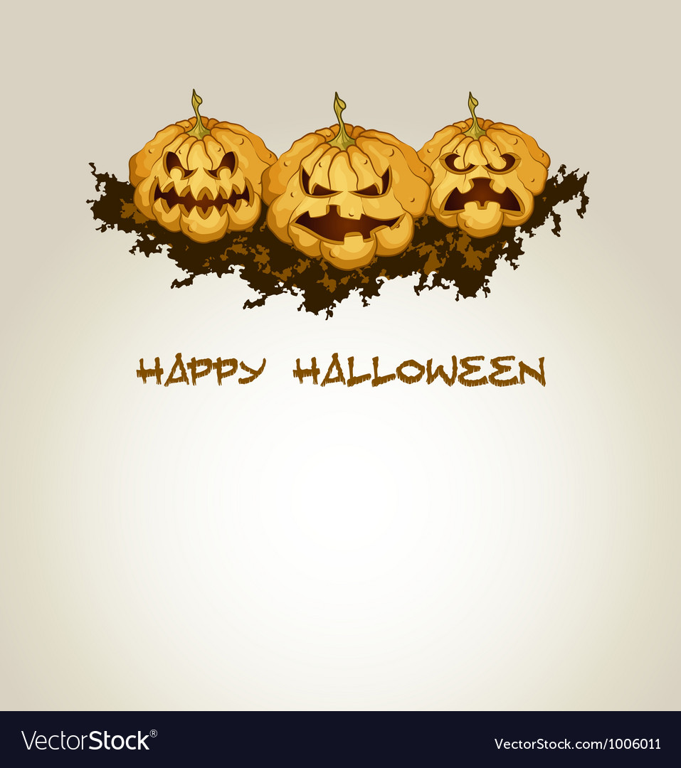 Halloween background with spooky pumpkins vector | Price: 1 Credit (USD $1)