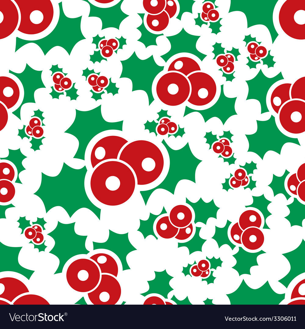 Mistletoe seamless pattern vector | Price: 1 Credit (USD $1)