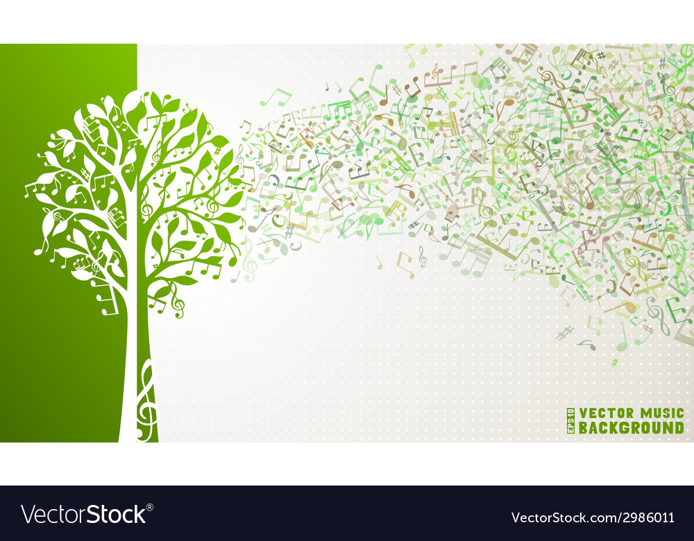 Music tree background vector | Price: 1 Credit (USD $1)