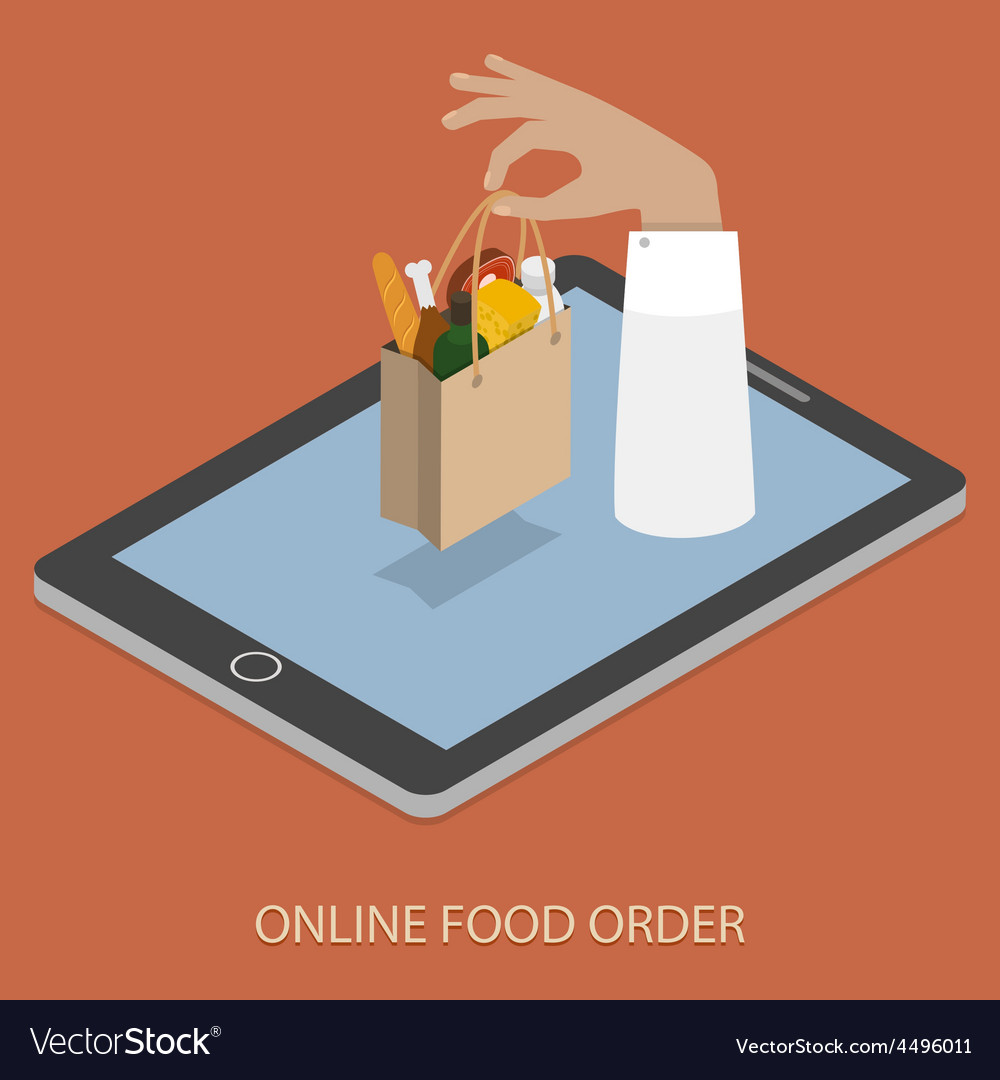 Online foood ordering concept vector | Price: 1 Credit (USD $1)