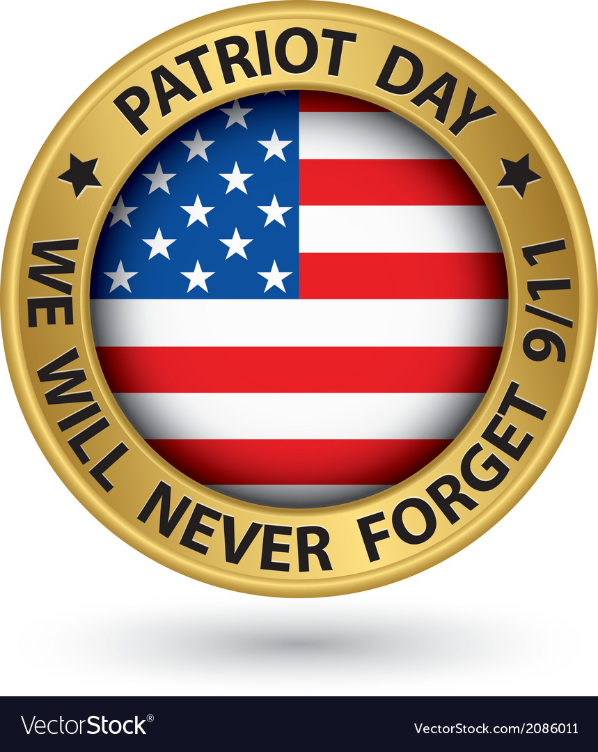 Patriot day the 11th of september gold label we vector   Price: 1 Credit (USD $1)