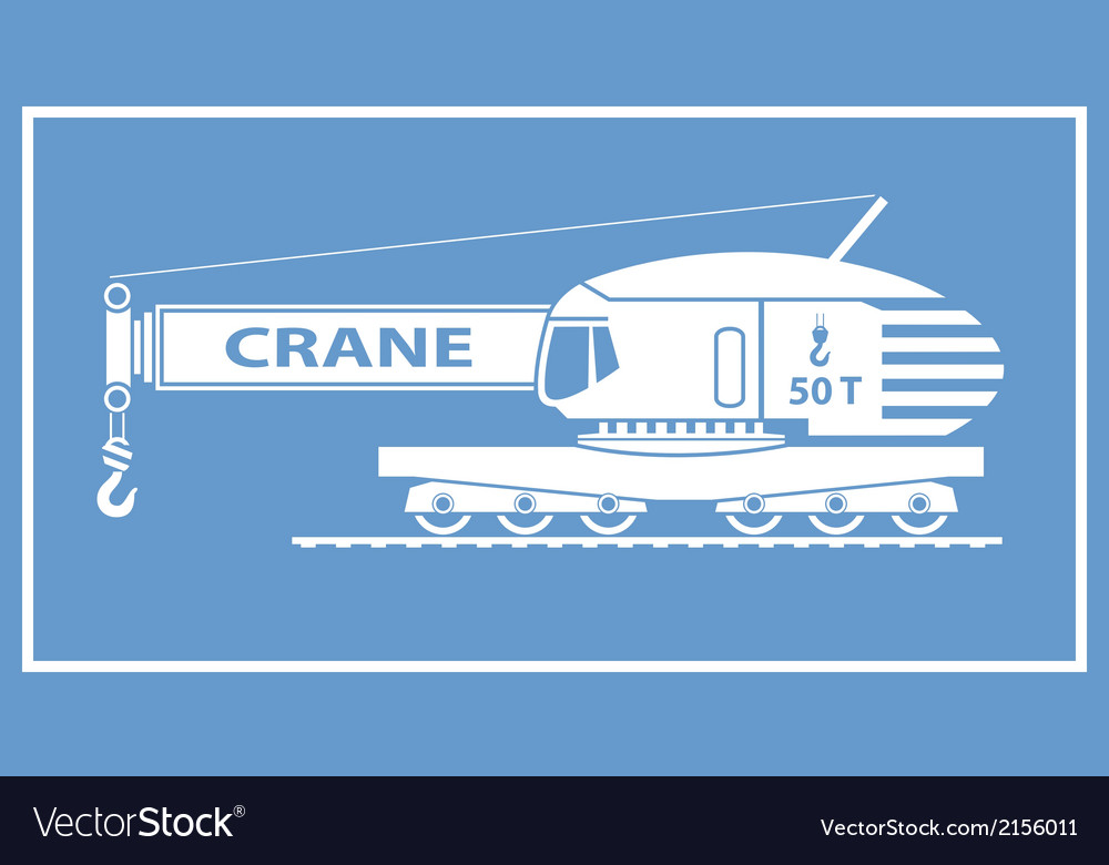 Rail crane vector | Price: 1 Credit (USD $1)