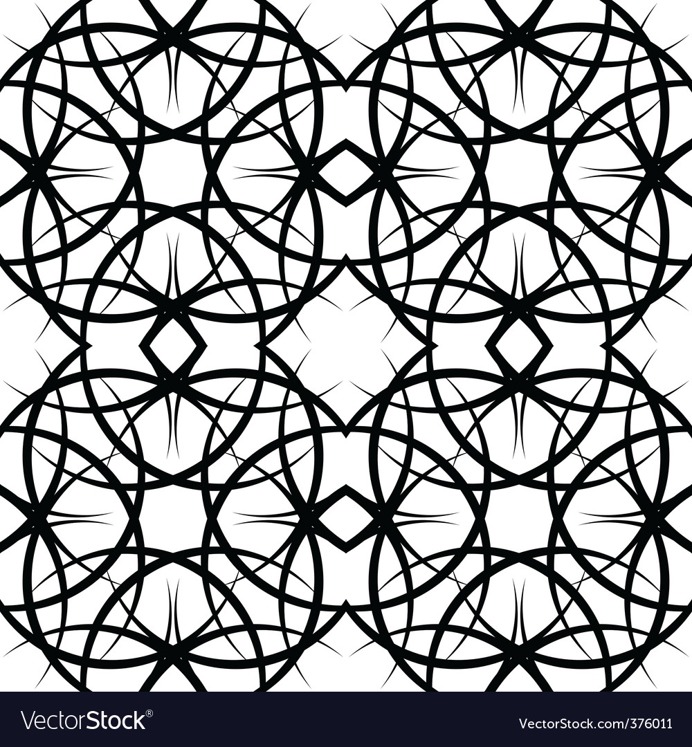 Illustration seamles tile ornate pattern vector | Price: 1 Credit (USD $1)