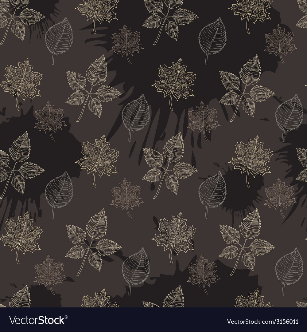 Seamless autumn patternabstract leaf vector | Price: 1 Credit (USD $1)