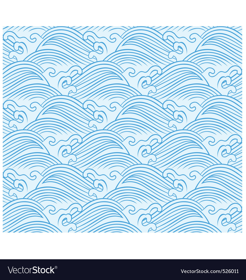 Seamless wave pattern vector | Price: 1 Credit (USD $1)