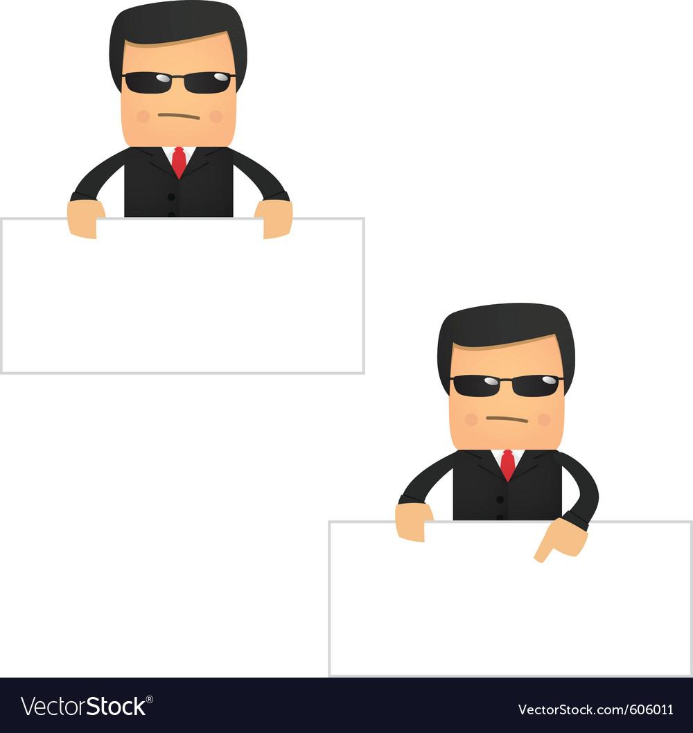 Security guard cartoon vector | Price: 1 Credit (USD $1)