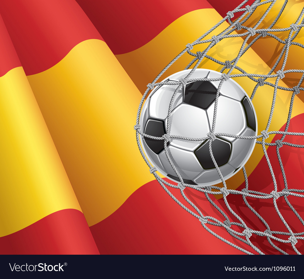 Soccer goal and spain flag vector | Price: 1 Credit (USD $1)