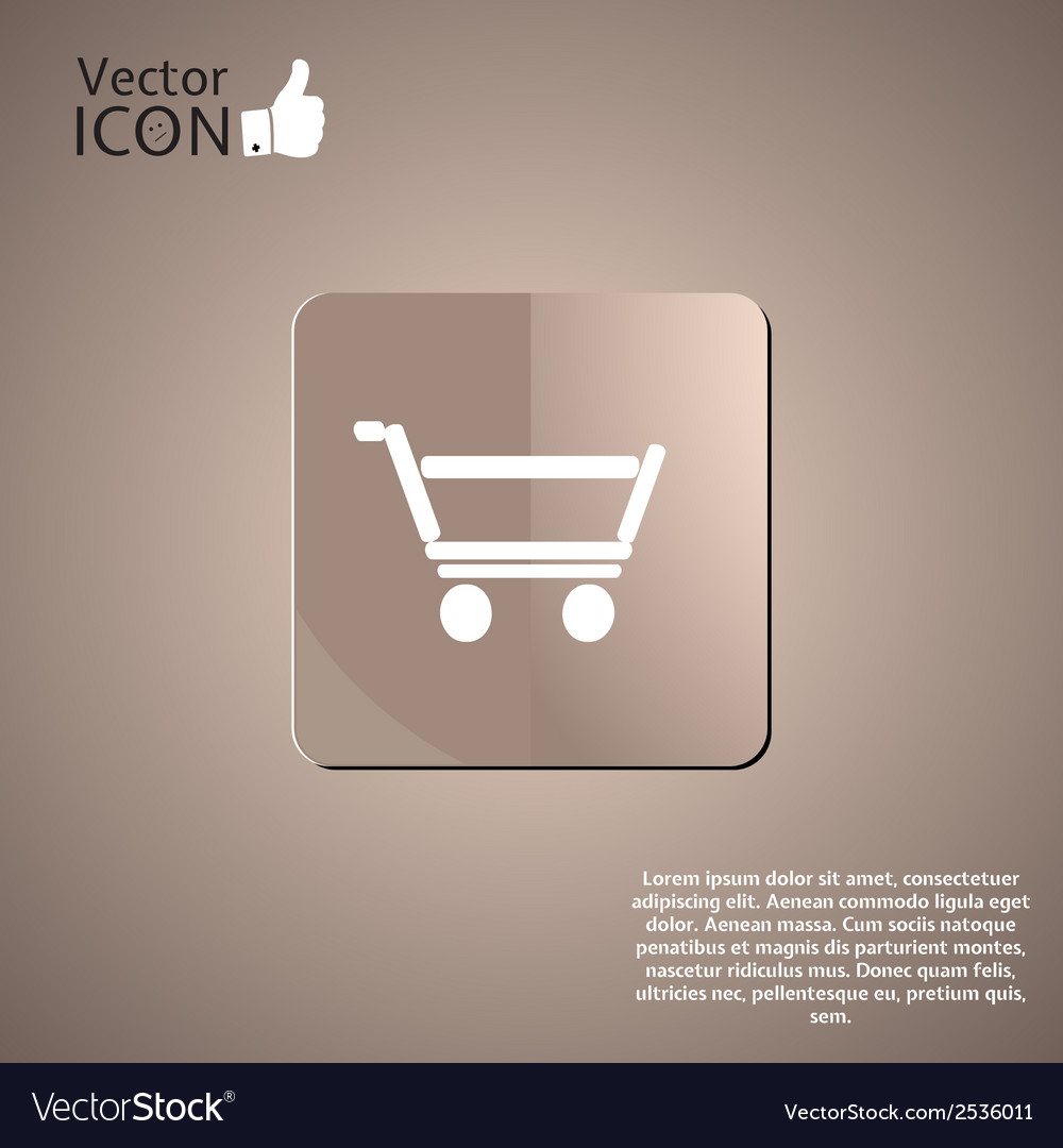 Supermarket trolley button vector | Price: 1 Credit (USD $1)