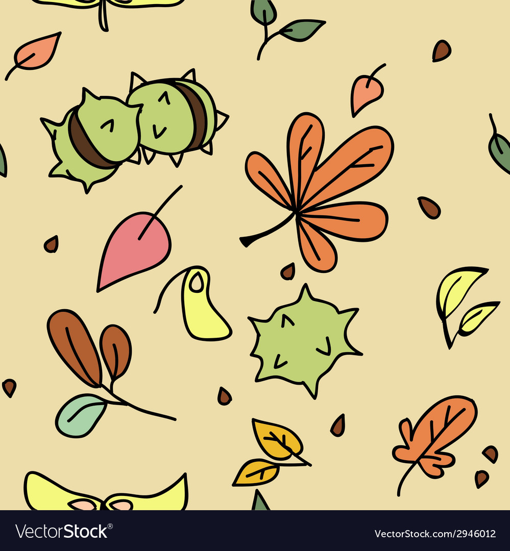 Autumn pattern 1 vector | Price: 1 Credit (USD $1)