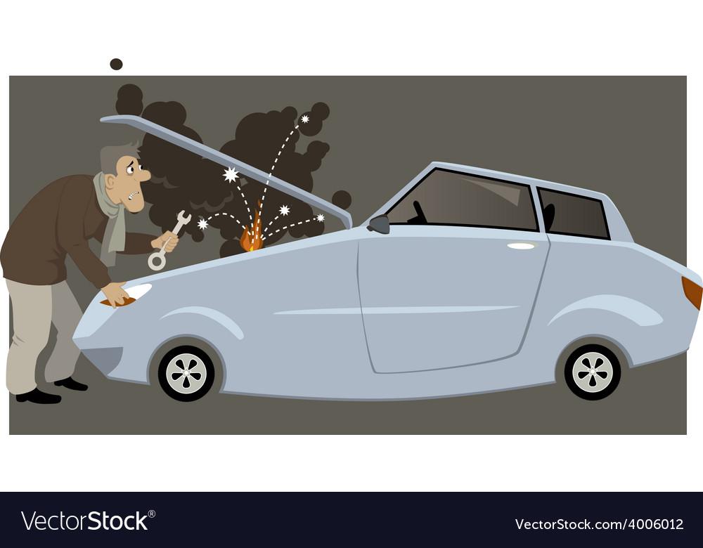 Car broke down vector   Price: 3 Credit (USD $3)