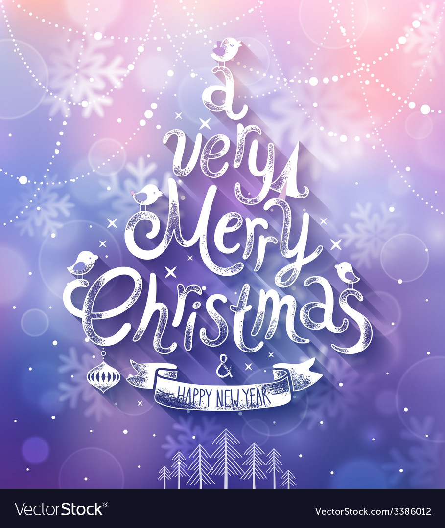 Christmas purple bg vector