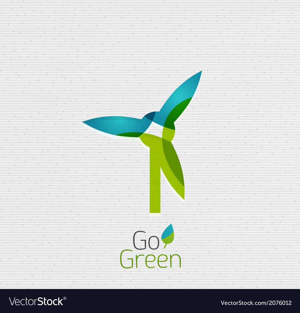 Eco windmill abstract shape design vector | Price: 1 Credit (USD $1)