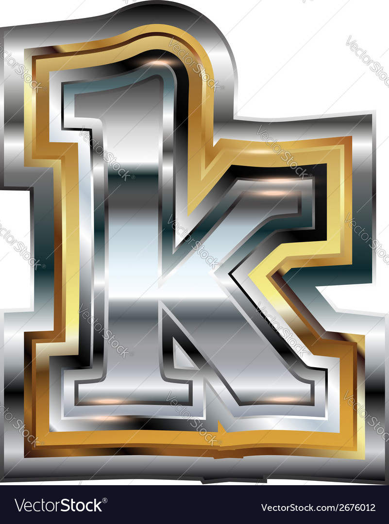 Fancy font letter k vector | Price: 1 Credit (USD $1)