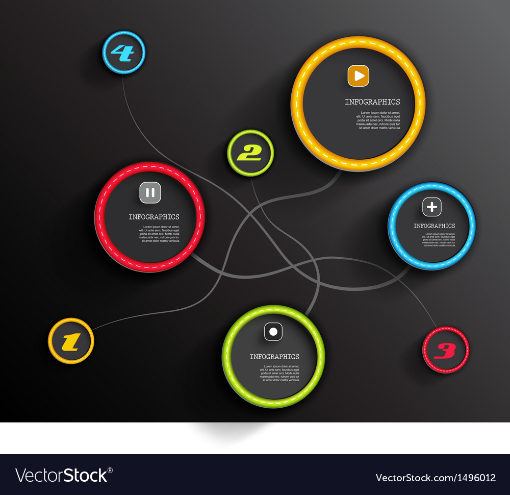 Info graphic circles with place for your text vector | Price: 1 Credit (USD $1)