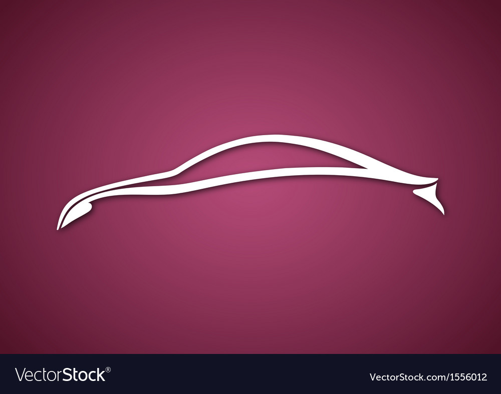 Logo of automobile over pink vector | Price: 1 Credit (USD $1)