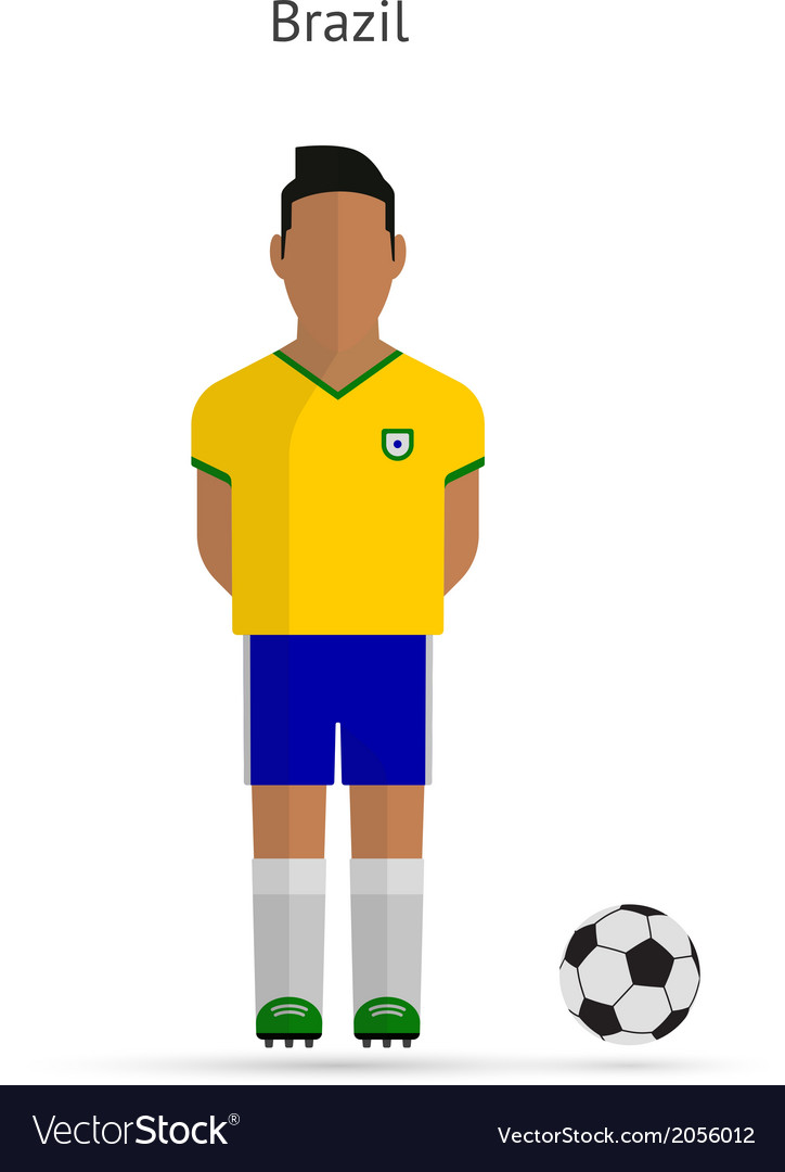 National football player brazil soccer team vector | Price: 1 Credit (USD $1)