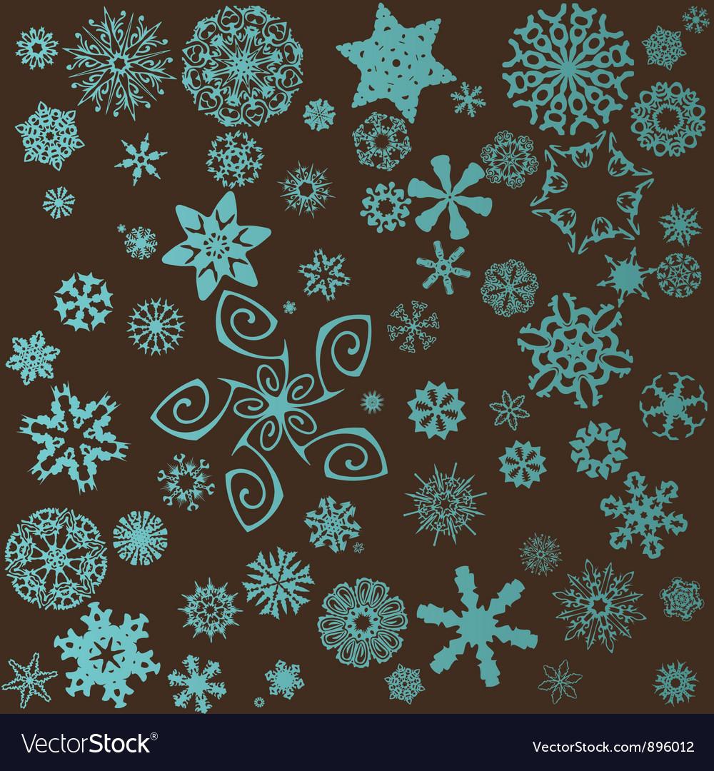 Snowflakes set vector | Price: 1 Credit (USD $1)