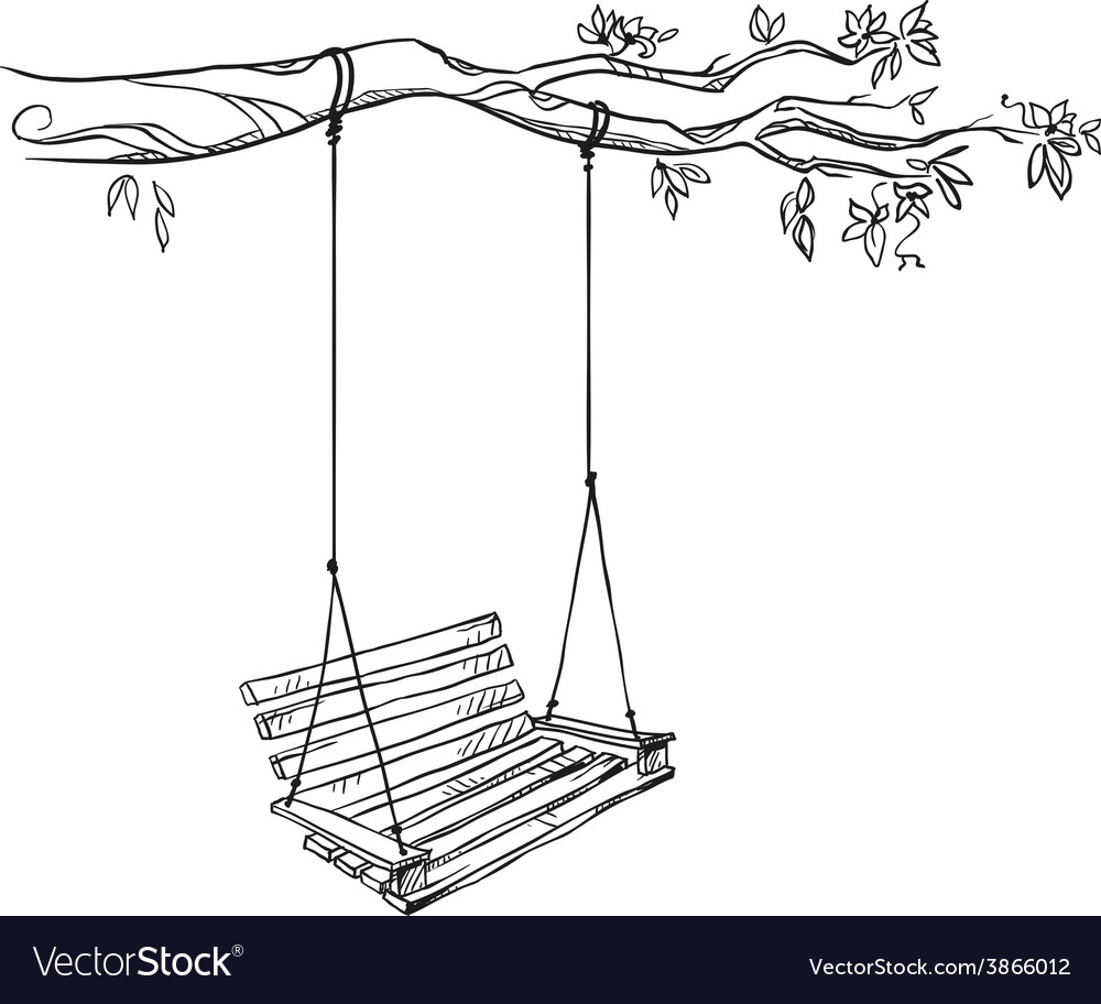 Tree with a swing vector | Price: 1 Credit (USD $1)