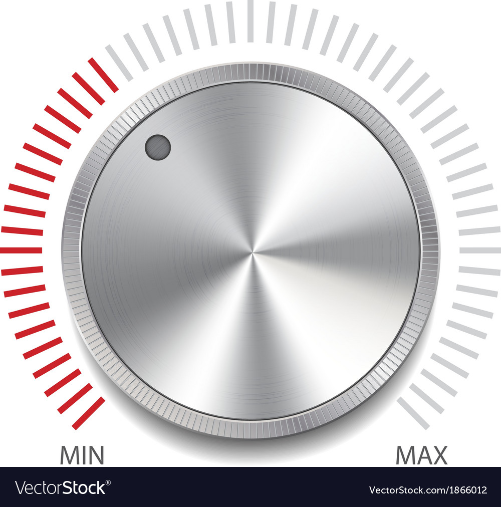 Volume button knob vector | Price: 1 Credit (USD $1)