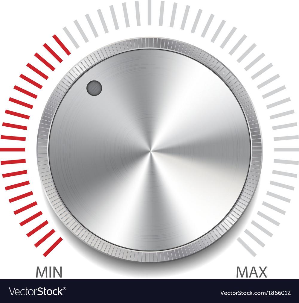 Volume button knob vector | Price: 1 Credit (USD $1)