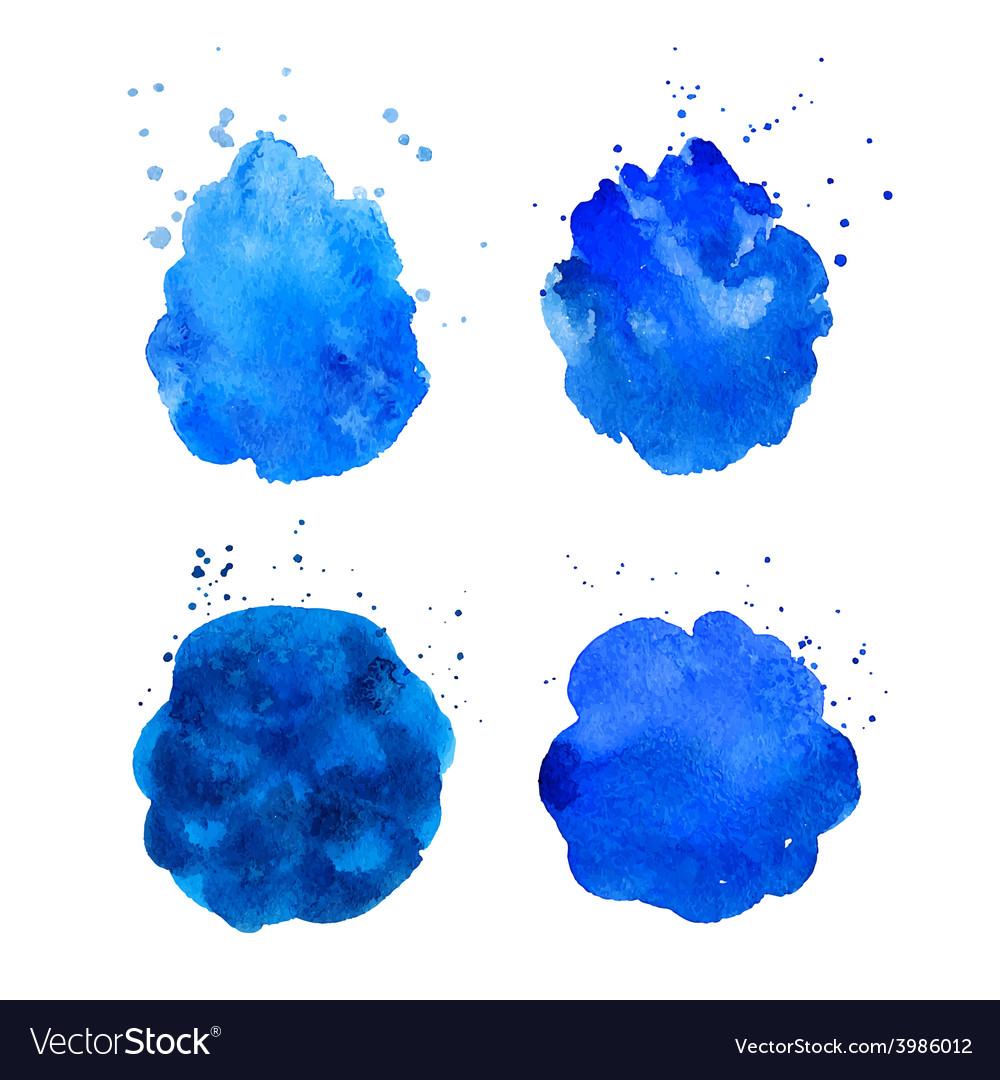 Watercolor splashes vector   Price: 1 Credit (USD $1)