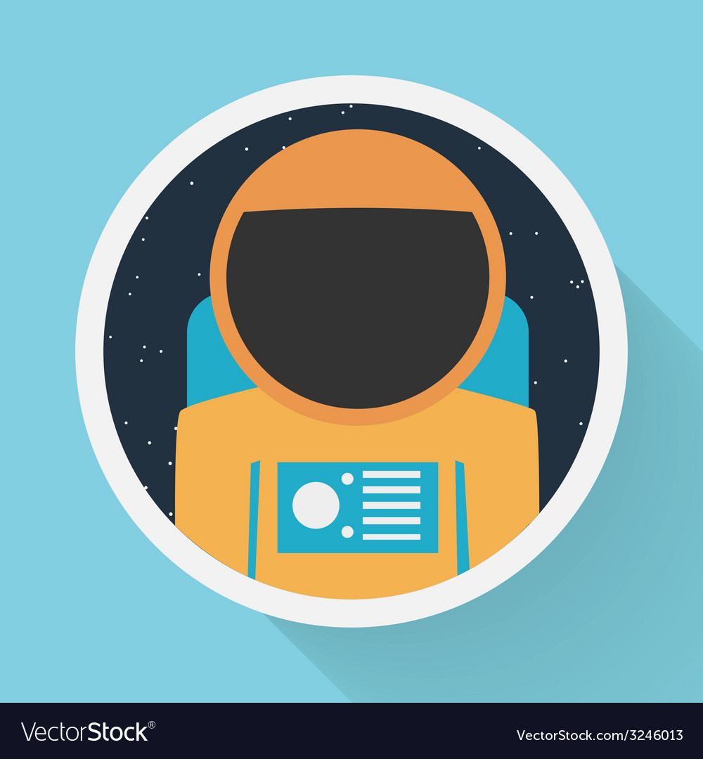 Astronaut portrait vector | Price: 1 Credit (USD $1)