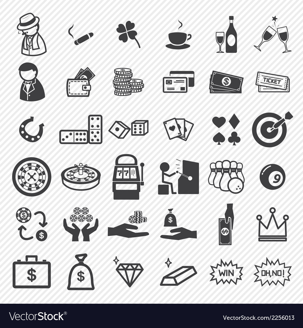 Casino icons set vector | Price: 1 Credit (USD $1)