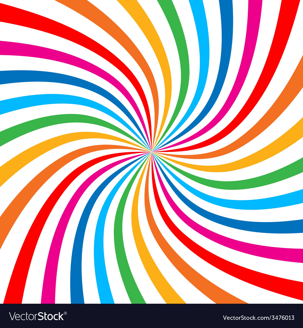 Colorful bright rainbow spiral background logo vector | Price: 1 Credit (USD $1)