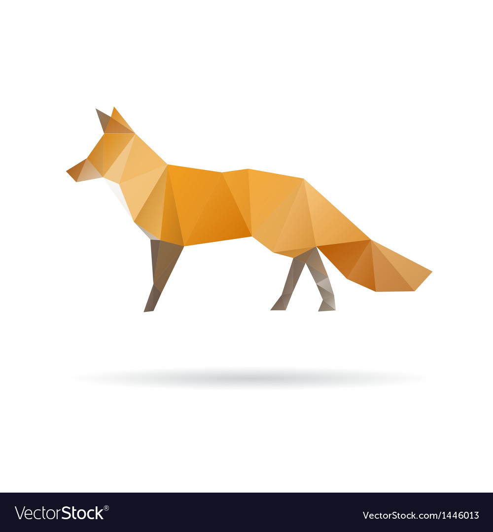Fox abstract isolated on a white backgrounds vector | Price: 1 Credit (USD $1)