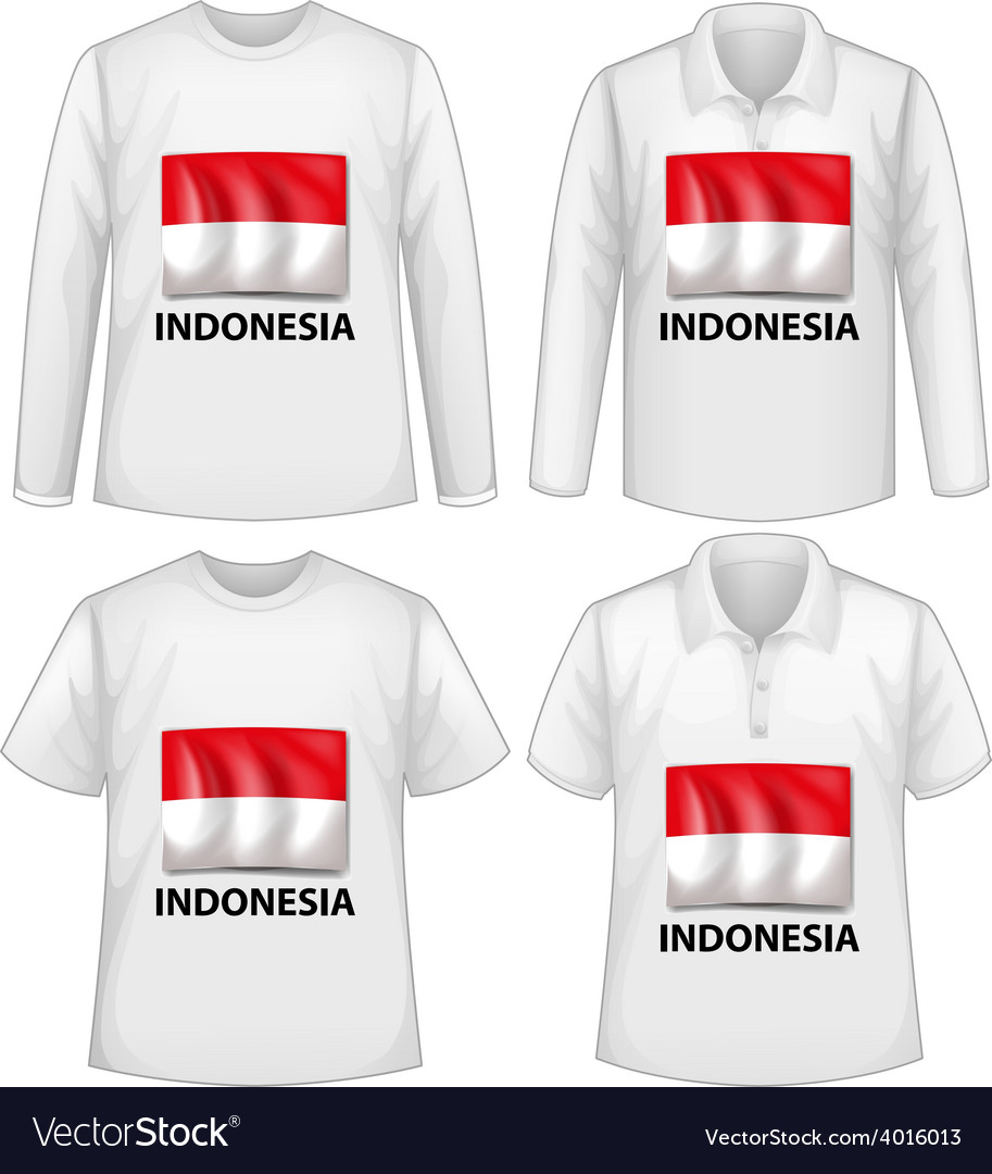 Indonesia shirt vector | Price: 1 Credit (USD $1)