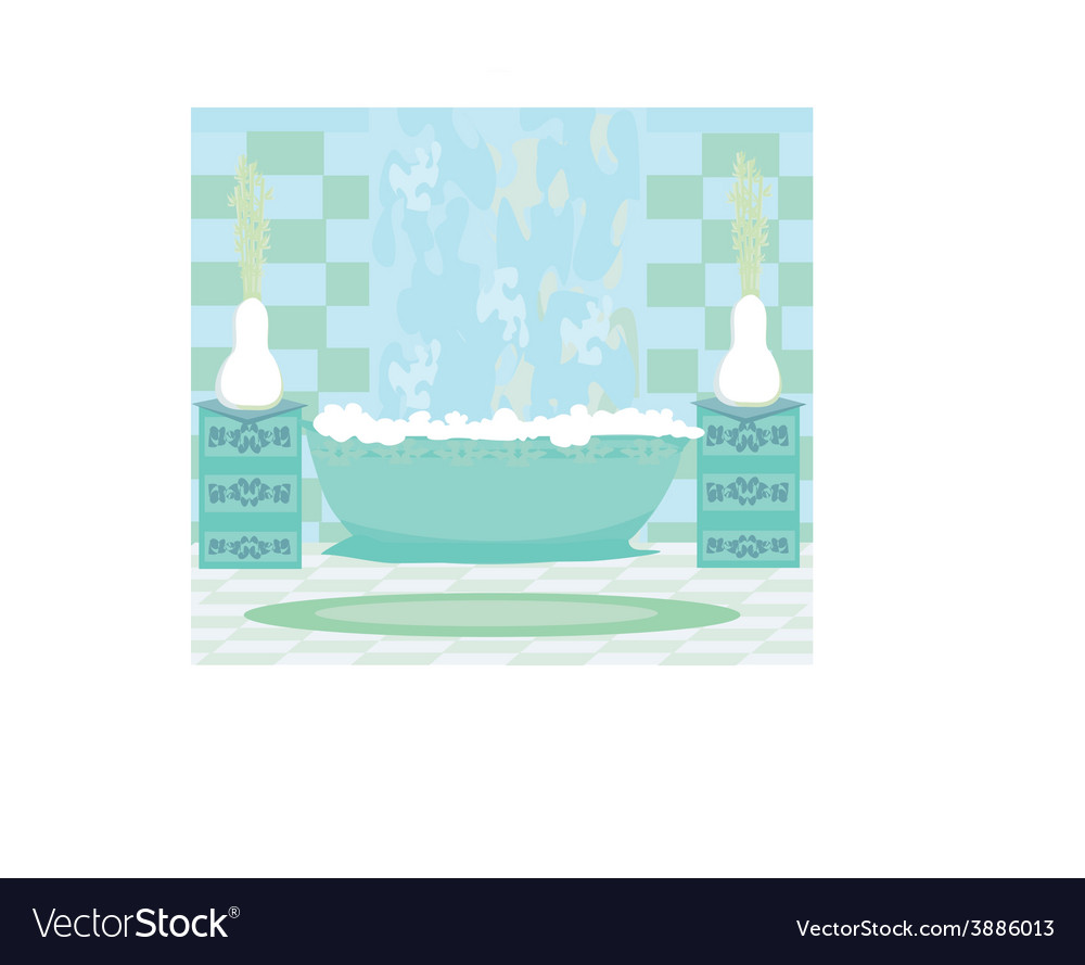 Interior of modern bathroom vector | Price: 1 Credit (USD $1)