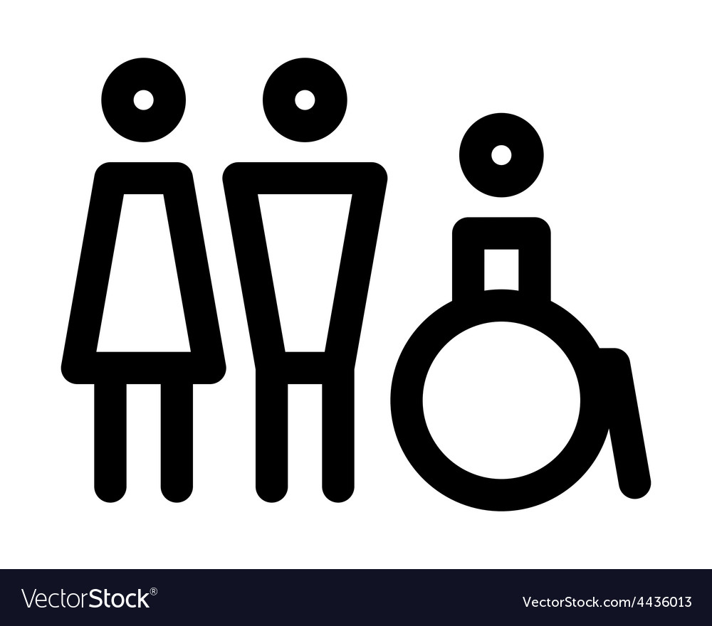 Man women and disabled sign vector | Price: 1 Credit (USD $1)