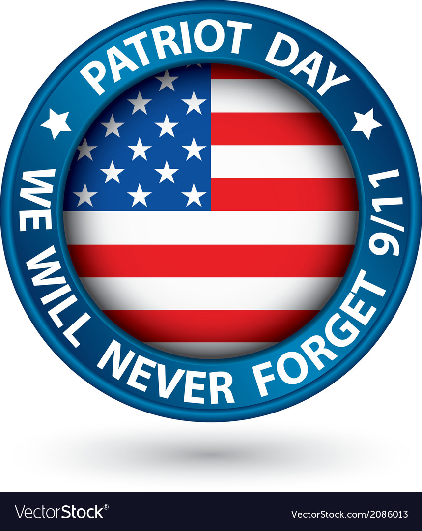 Patriot day the 11th of september blue label we vector | Price: 1 Credit (USD $1)