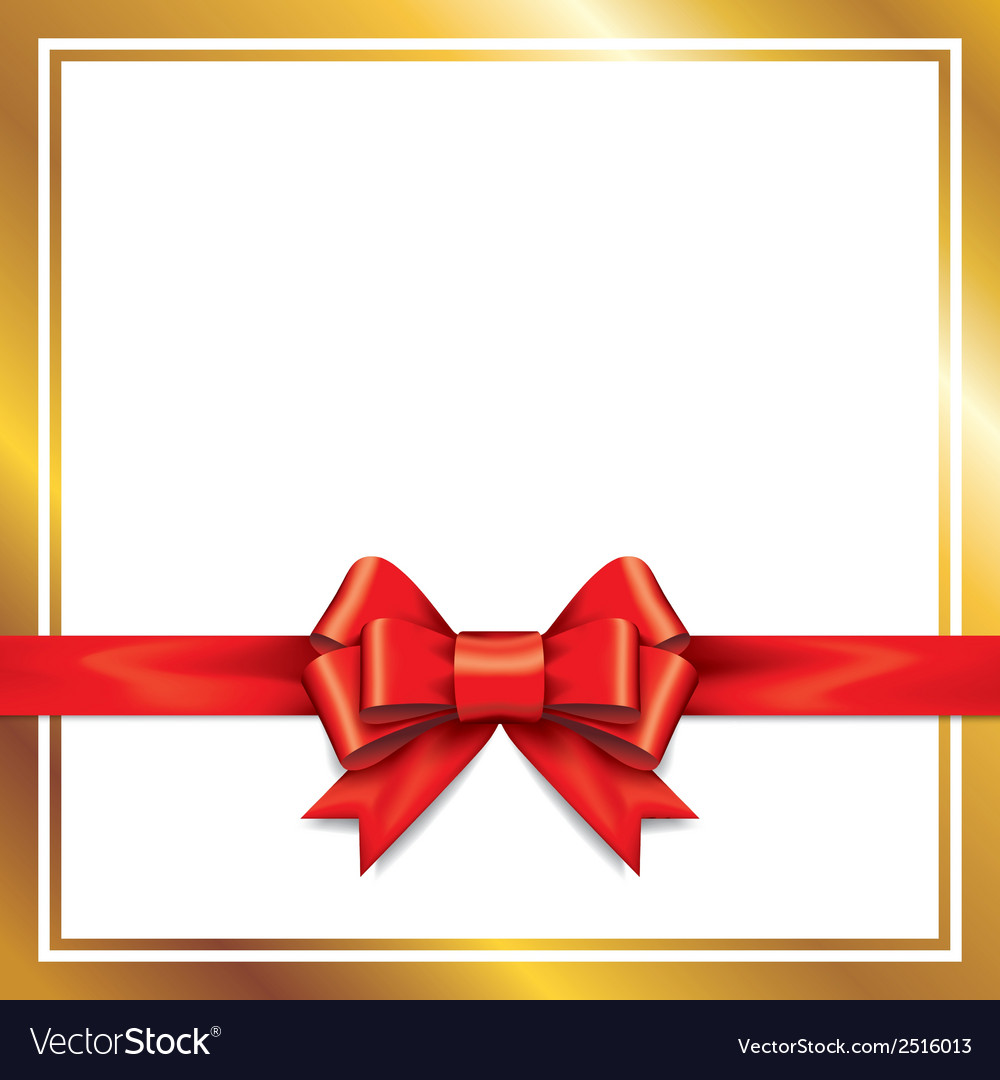 Red gift bows with ribbons vector | Price: 1 Credit (USD $1)