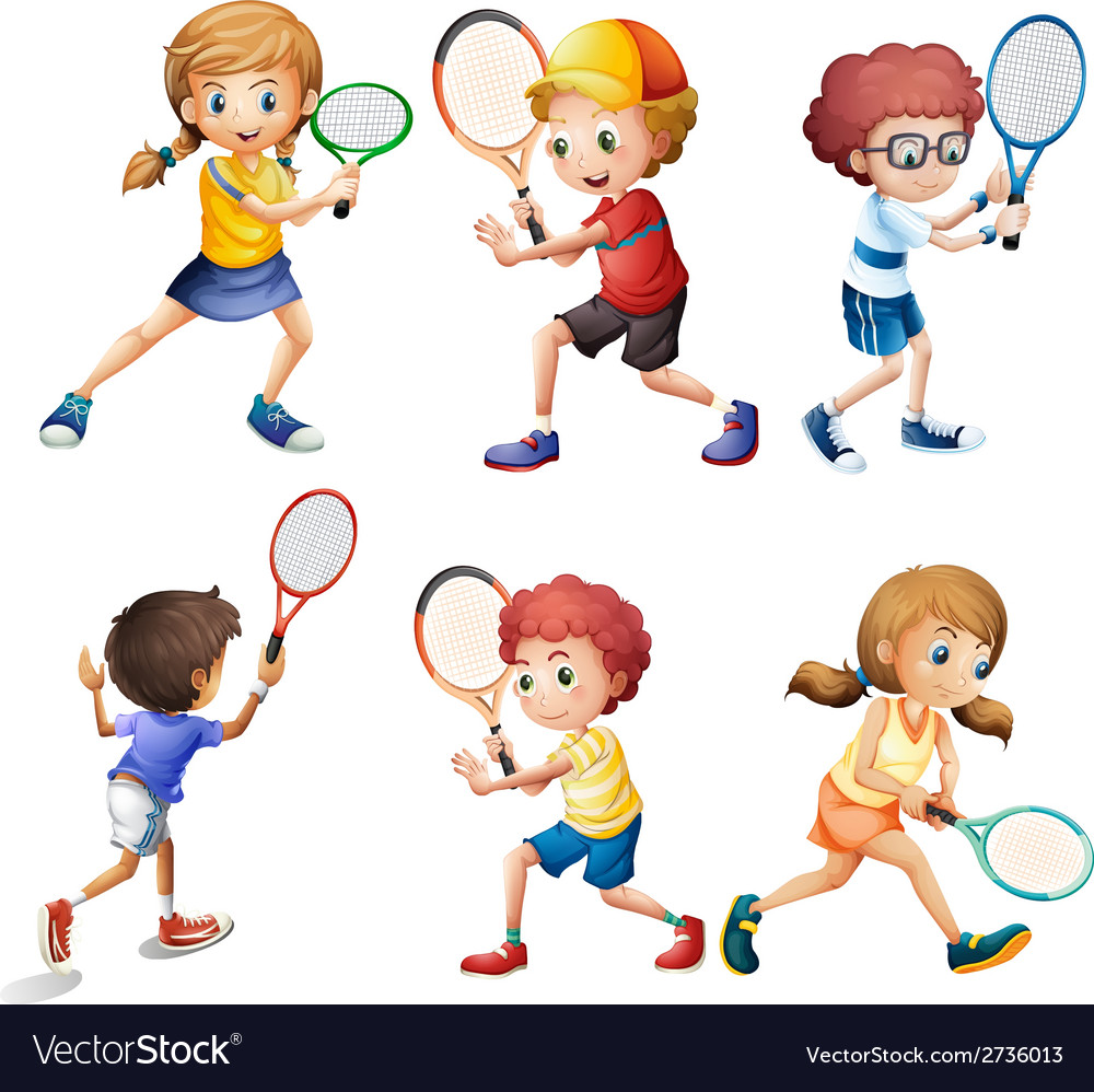Tennis actions vector | Price: 1 Credit (USD $1)