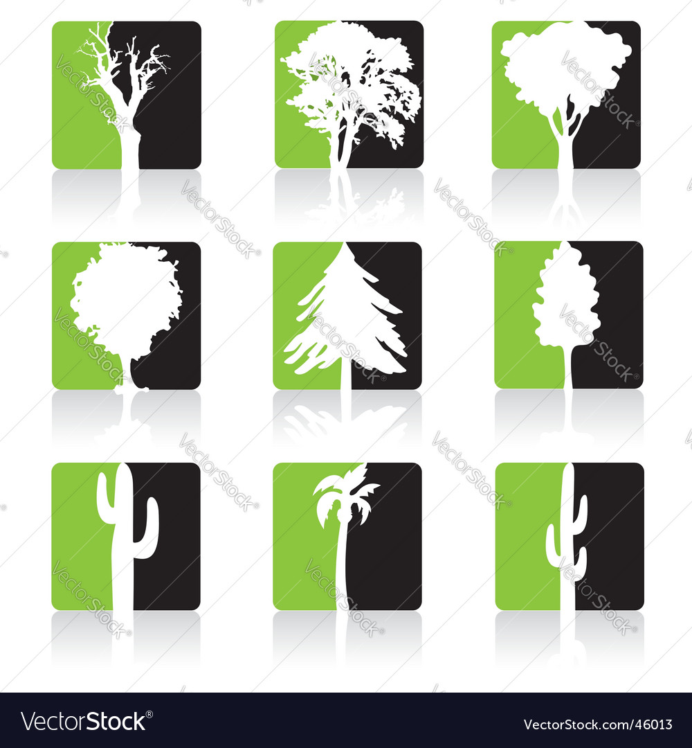 Tree icons vector | Price:  Credit (USD $)