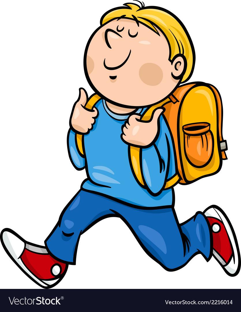 Boy grade student cartoon vector | Price: 1 Credit (USD $1)