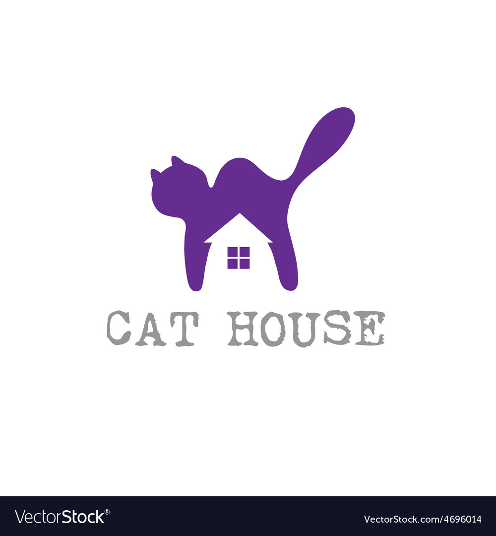 Cat house concept design template vector | Price: 1 Credit (USD $1)