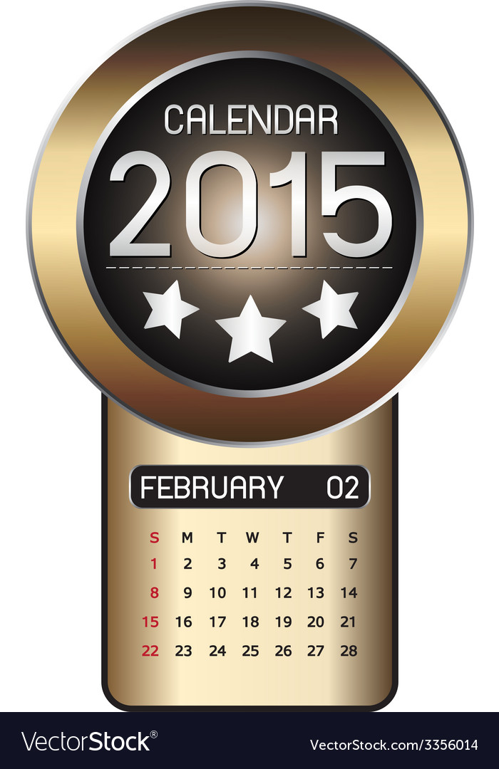 February calendar 2015 fiber background vector | Price: 1 Credit (USD $1)