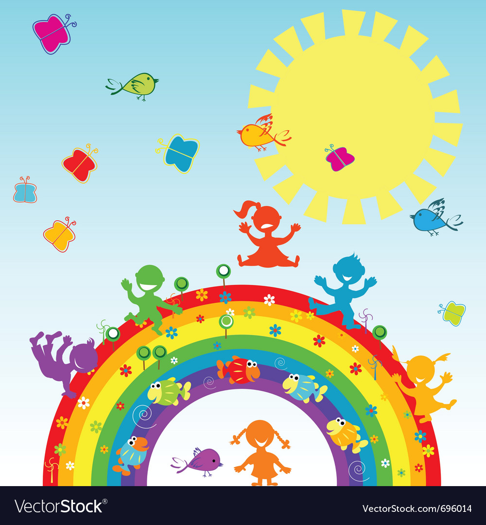 Happy children vector | Price: 1 Credit (USD $1)