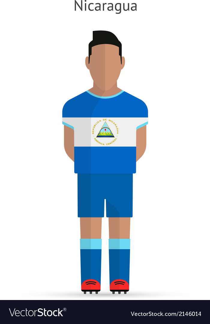 Nicaragua football player soccer uniform vector | Price: 1 Credit (USD $1)